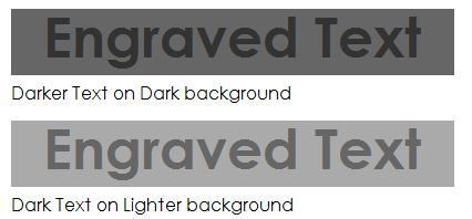 Engraved Text with CSS | CSS Snippets
